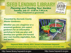 Planning and Planting Your Garden Workshop @ Hayward Main Library - July 15, 2014 @ 6:30 p.m.