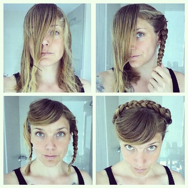 Flätguide: många hårnålar!