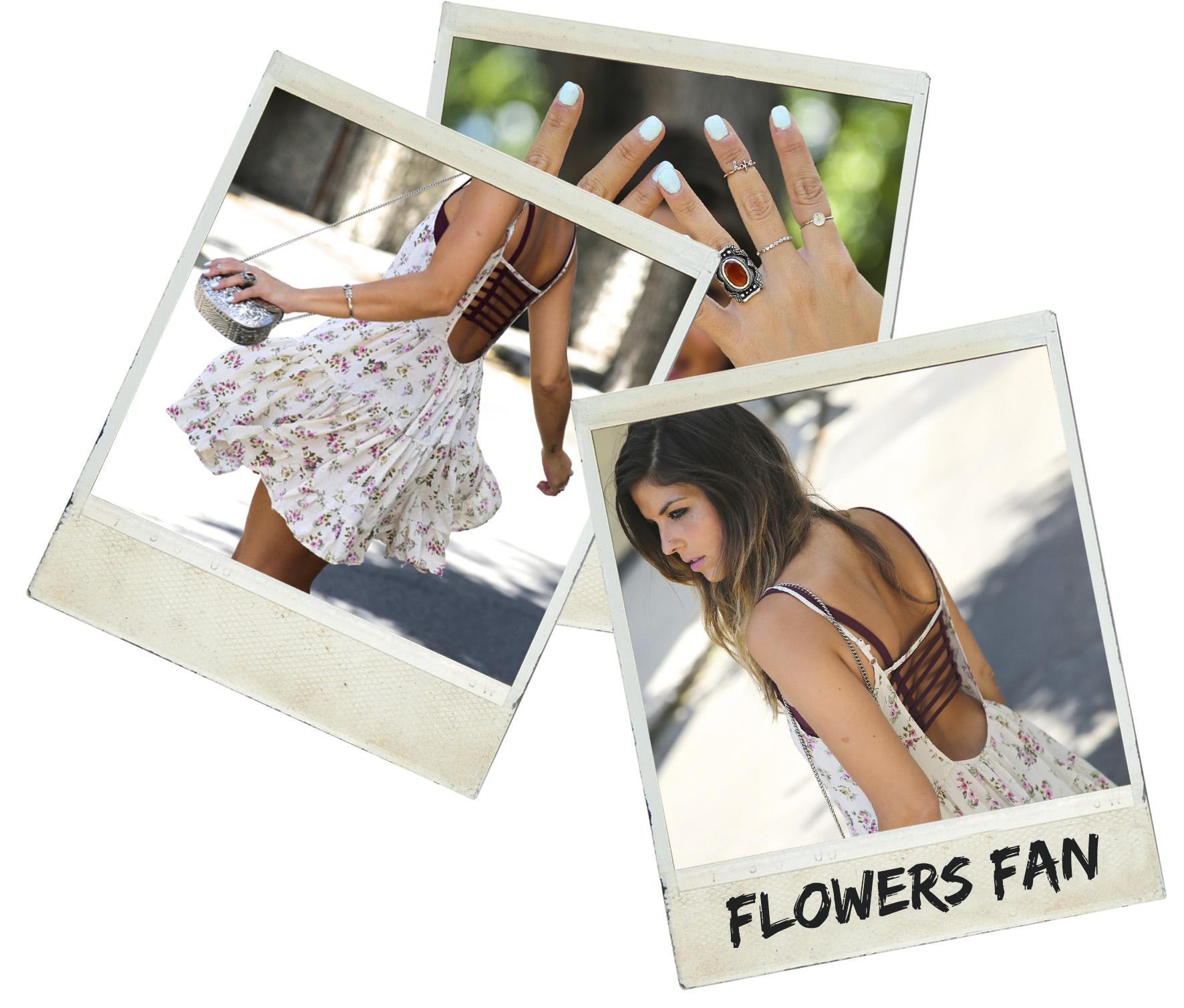 trendy_taste-look-outfit-street_style-ootd-blog-blogger-fashion_spain-moda_españa-vince_camuto-botines_granates-burgundy_booties-flower_print-estampado_flores-silver_bag-bolso_plata-estampado_flores-boho-top-polaroid