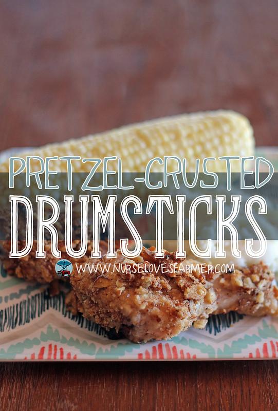 Pretzel-Crusted Drumsticks
