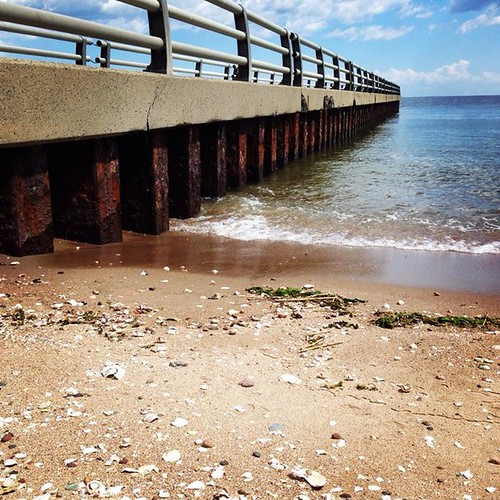 beachpier, beach, pier, ocean, shoreline, seashore