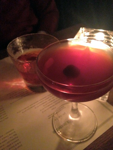 Manhattan and Sazerac at Satan's Whiskers