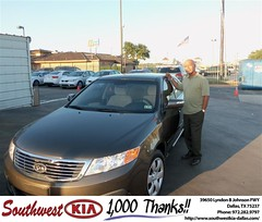 #HappyAnniversary to Carey Mitchell on your 2009 #Kia #Optima from William Nevels at Southwest Kia Dallas!