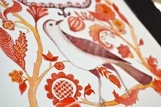 redwork bird