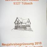 Neujahrsbegrüssung im Löwen Tübach 2010