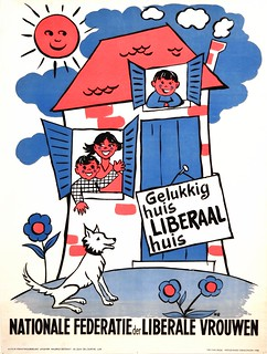 Liberale verkiezingsaffiche, 1958 | Campaign poster, Belgian Liberal Party, National elections 1958