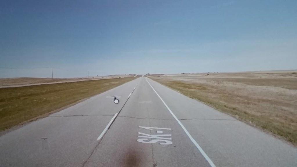 Flat, flat, flat #saskatchewan #ridingthroughwalls #googlestreetview #xcanadabikeride