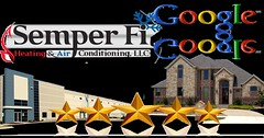 Semper Fi HVAC Google Customer 5 star Reviews