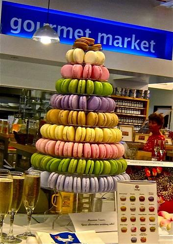 wedding cake made from Duvereen macarons