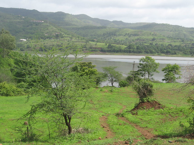 The velvety green mountains serve as a catchment area for the dam.