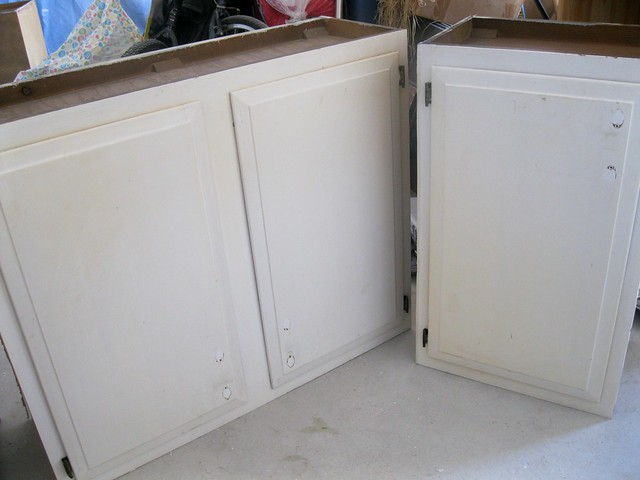 laundry cabinets before