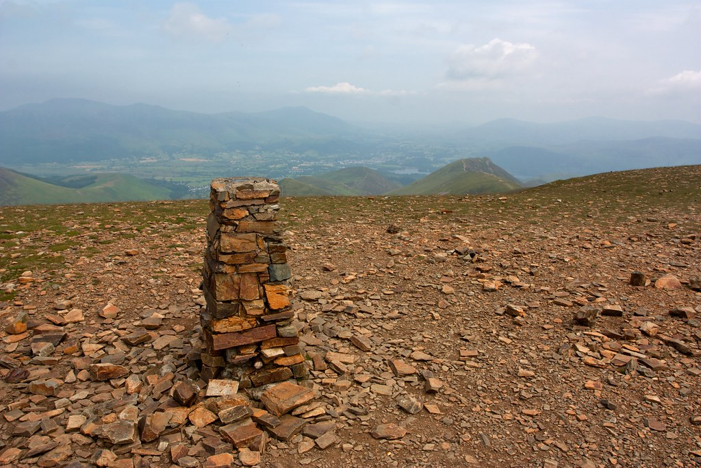 Trig point on Crag Hill