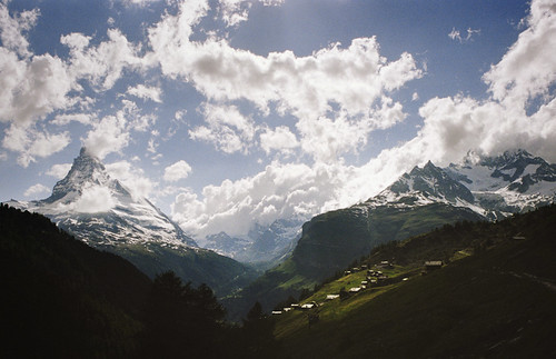 in the valley of the matterhorn