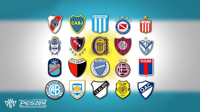 PES 2014 confirmado con la primera división de Argentina.