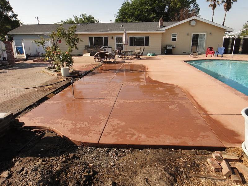 Delightful Salt Finish Pool Deck Patio Extension