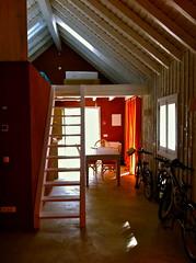 farmhouse(0.0), room(0.0), living room(0.0), floor(1.0), attic(1.0), wood(1.0), property(1.0), loft(1.0), house(1.0), log cabin(1.0), interior design(1.0), hardwood(1.0), home(1.0),
