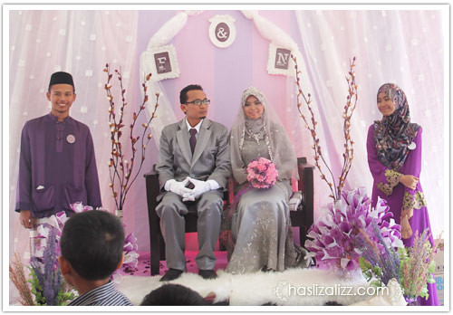 9565036339 5e972aaa7a Majlis kahwin Anwar Fikri tema kelabu dan ungu