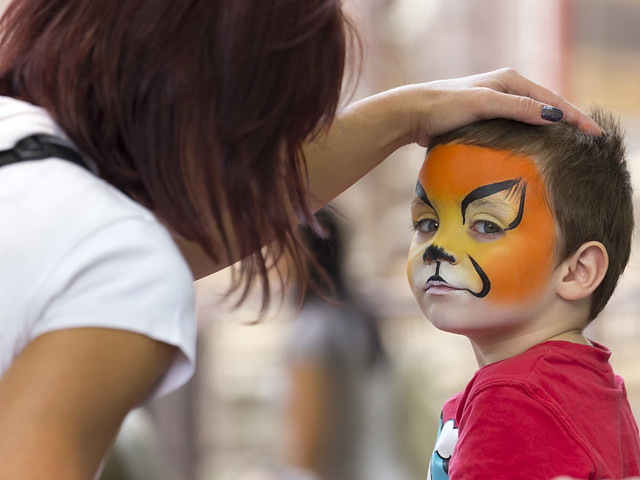 Face Painting Zoo Animals http://www.flickr.com/photos/venacos/9571637332/