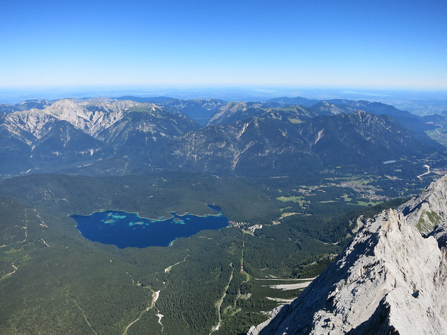 View of Eibsee from Zugspitze