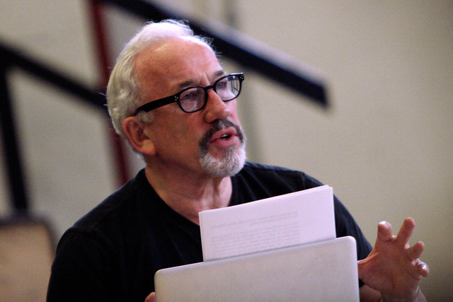 Simon Callow in rehearsals for Inside Wagner's Head © ROH/Catherine Ashmore 2013