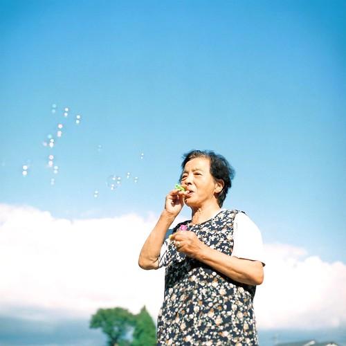 Bubble Grandmother by Kazuyuki Kawahara