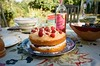 Victoria Sponge with Raspberries