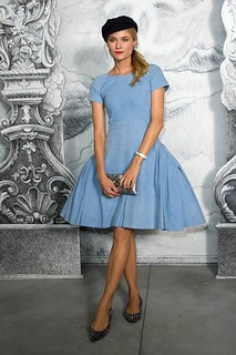 Diane Kruger Denim Dress Celebrity Style Women's Fashion