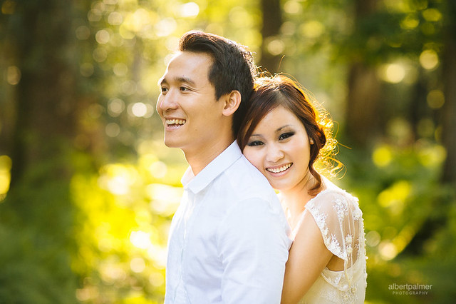 asian, couple, beauty, engagement