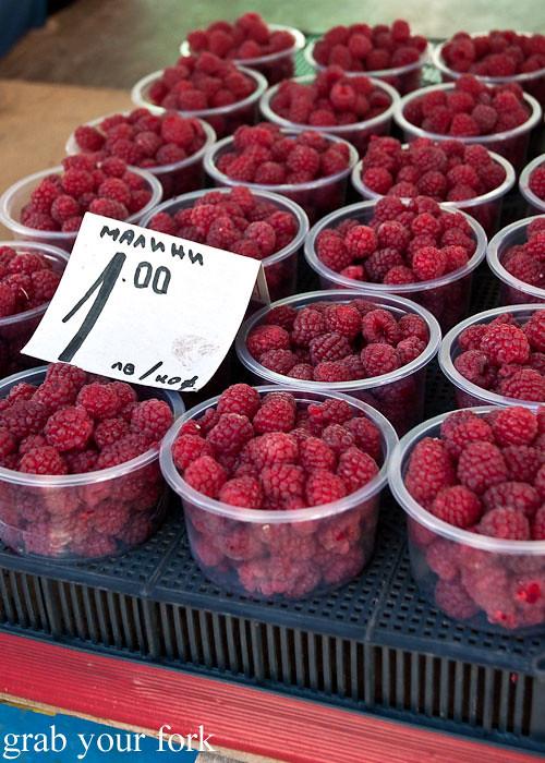 raspberries at Zhenski Pazar Jenski Pazar Women's Market Sofia