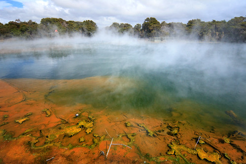 newzealand orange mist lake hot rotorua steam northisland geothermal vents