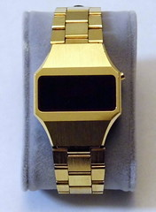 Vintage National Semiconductor Men's Electronic LED Watch, Swiss-Made Case, Circa 1970s