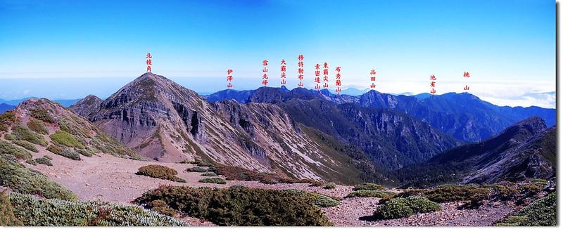 聖稜線(From 雪山頂)