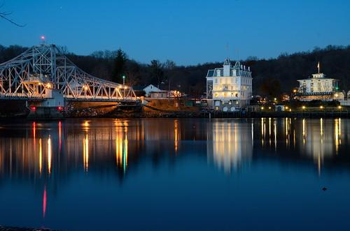 Haddam CT, Swing bridge, Goodspeed Opera House by patrickfranzis