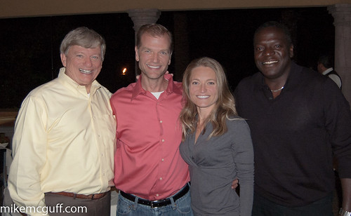 Rusty Hardin, Ned & Danielle Hibberd with Isiah Carey