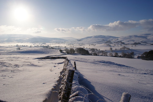Snow covered hills in Cumbria