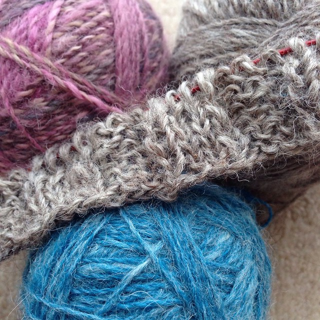 Knitting with handspun