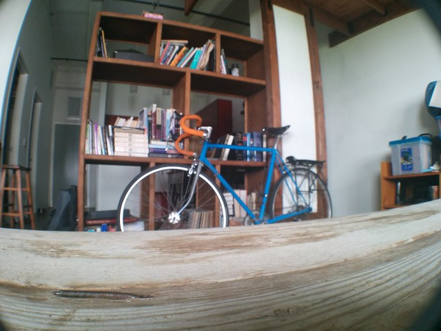 Wideangle shot of my bike