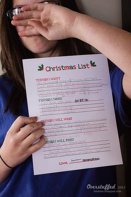 Bria's Christmas List