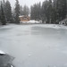 Frozen lake on Grouse Mountain