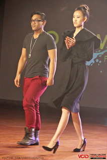 VCAD ONwards Fashion Show 2013 – Darius Tuliao with one of his models