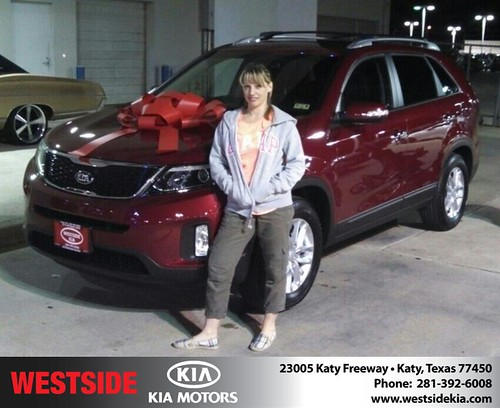 Thank you to Tisha Kelley on your new 2014 #Kia #Sorento from Gil Guzman and everyone at Westside Kia! #NewCarSmell by Westside KIA