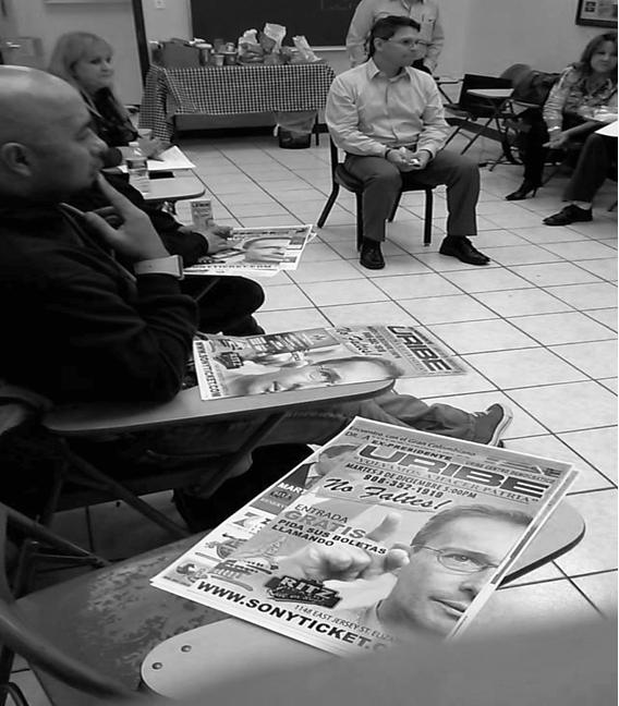 Zoilo Nieto preparando el encuentro  con Álvaro Uribe