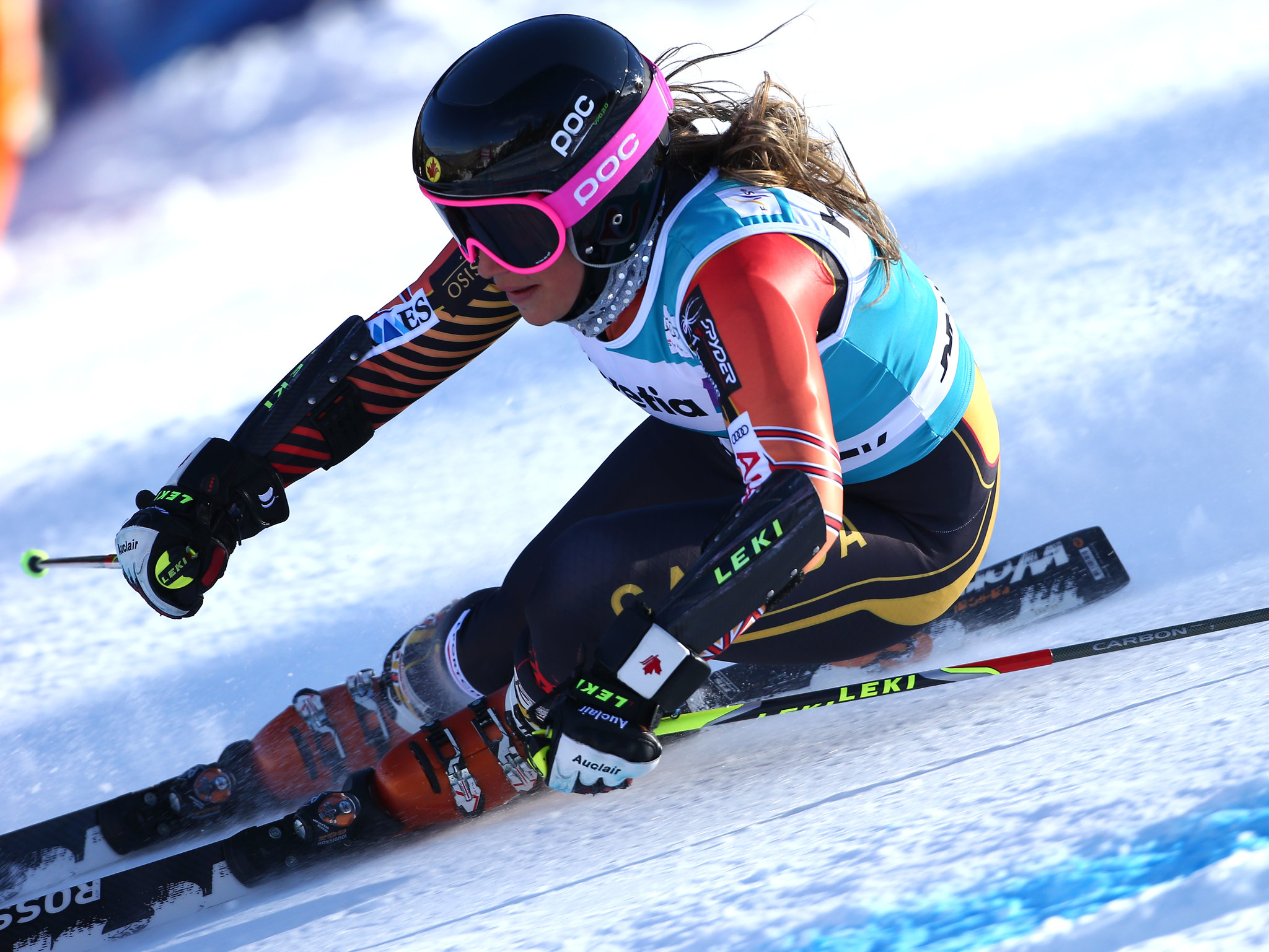 Préfontaine in action in the giant slalom in Beaver Creek, U.S.