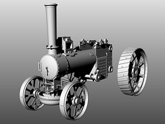 Rendered version of my engine CAD model