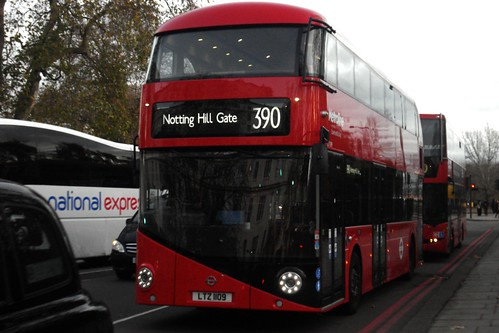Metroline LT109 on Route 390, Marble Arch