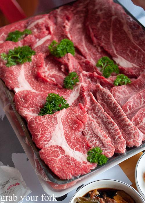 Wagyu beef tray