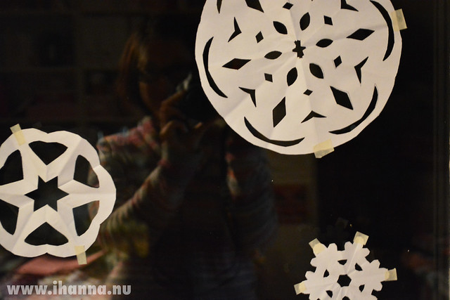 Self Portrait with Snowflakes