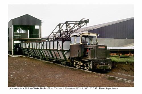Littleton, Bord na Mona.  Hunslet 8935 of 1980. 22.5.87