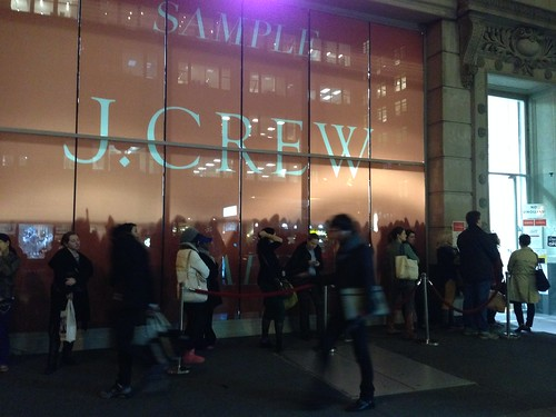 The line outside J. Crew's sample sale