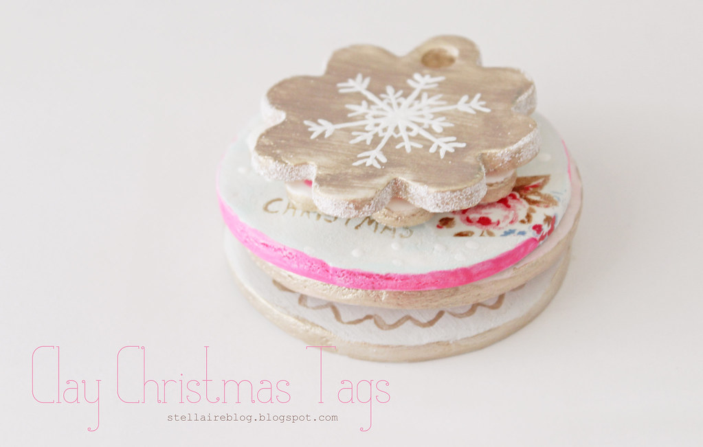 clay christmas tags